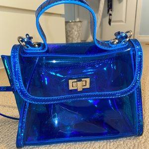 Clear blue crossbody bag